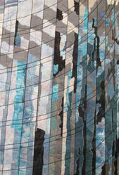 Reflections, Glass Walls, La Defense, Paris. var. 3