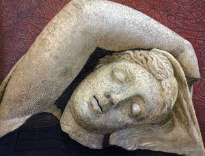 Beautiful Faces, var, 10, Reclining Bust with Curved Arm